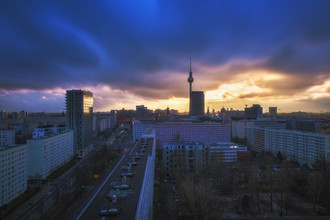 Jean Claude Castor, Berlin Wolken über der City (Deutschland, Europa)