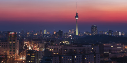 Jean Claude Castor, Berlin Farbspiel am Abendhimmel (Deutschland, Europa)