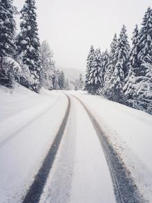 Gergo Kazsimer, Snowy Road To The Mountains (Germany, Europe)