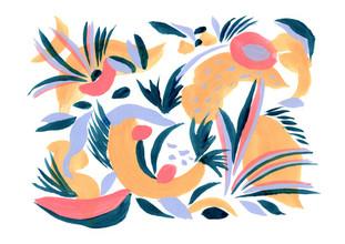 La Tinta Studio Fernanda Martínez, Abstract petals (Mexico, Latin America and Caribbean)