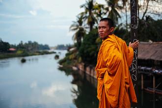 Jim Delcid, Monk Looking at the mekong Rivermmonk (Laos, Asia)