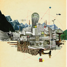 Collage City Mix 7 - fotokunst von Marko Köppe