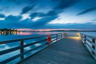 Martin Wasilewski, Blauer Abend am See (Deutschland, Europa)