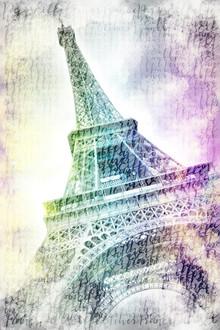 Melanie Viola, PARIS Eiffelturm Aquarell (Frankreich, Europa)