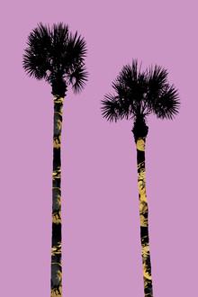 Melanie Viola, Grafikkunst PALMEN pink (Vereinigte Staaten, Nordamerika)