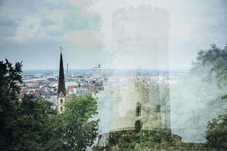 Nadja Jacke, Sparrenburg und Neustädter Marienkirche in Bielefeld (Deutschland, Europa)
