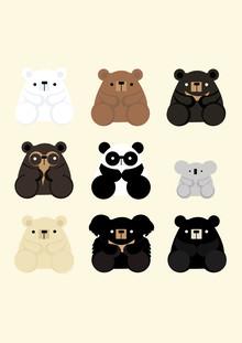 Types of Bears - fotokunst von Katherine Blower