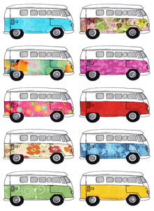 Katherine Blower, campervan Pattern (United Kingdom, Europe)