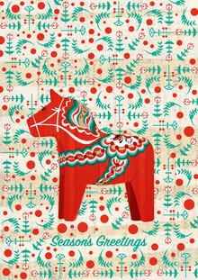 Dala Horse Pattern - fotokunst von Katherine Blower