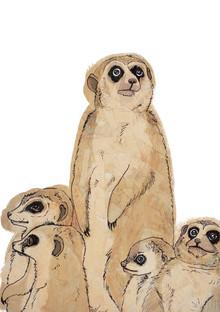 Meerkat Family - fotokunst von Katherine Blower
