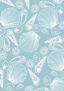 Katherine Blower, Blue Sea Shell Pattern (United Kingdom, Europe)