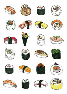 Sushi Pattern - fotokunst von Katherine Blower