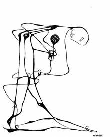 Michael William Benton, figure and flower (Canada, North America)