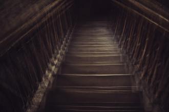 Nadja Jacke, Wooden stairs downhill (Germany, Europe)