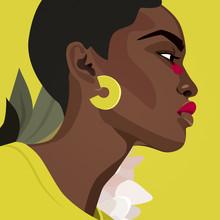 Helene Boutanos, Portrait n°4 : Black woman (Frankreich, Europa)