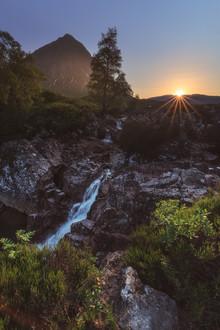 Jean Claude Castor, Glen Etive Mor Wasserfall in Glencoe (Großbritannien, Europa)
