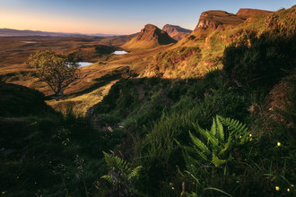 Jean Claude Castor, Schottland Isle of Skye The Quiraing Sonnenuntergang (Großbritannien, Europa)
