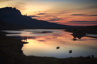 Schottland The Storr zum Sonnenuntergang - fotokunst von Jean Claude Castor