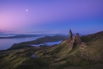 Jean Claude Castor, The Old Man of Storr auf der Isle of Skye in der Morgendämmerung (Großbritannien, Europa)