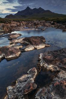 Jean Claude Castor, Schottland Isle of Skye Sligachan Wasserfall (Großbritannien, Europa)