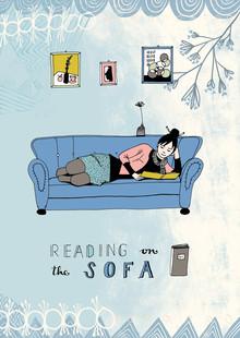 Constanze Guhr, Und hier noch ein guter Leseplatz: das Sofa, digital illustration (, )