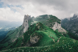 Ueli Frischknecht, Grüne Huegel im Alpstein (Schweiz, Europa)