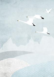Katherine Blower, Whooper Swans (Großbritannien, Europa)
