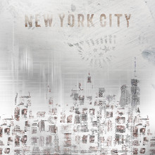 Melanie Viola, MODERN ART New York City Skylines shabby chic (United States, North America)