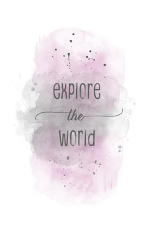 Melanie Viola, Explore the world Aquarell rosa (Deutschland, Europa)