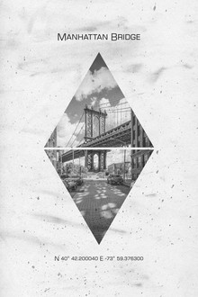 Melanie Viola, Koordinaten NEW YORK CITY Manhattan Bridge (Vereinigte Staaten, Nordamerika)