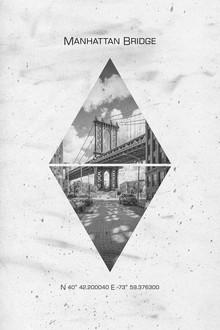 Melanie Viola, Koordinaten NEW YORK CITY Manhattan Bridge (Vereinigte Staaten, Nordamerika)