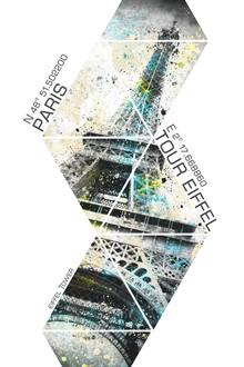 Melanie Viola, Modern Art EIFFELTURM Koordinaten (Frankreich, Europa)