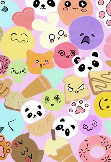 Squishies pattern - fotokunst von Katherine Blower