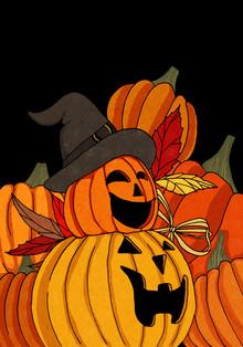 Pumpkins - fotokunst von Katherine Blower