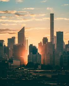 NYC sunset - fotokunst von Dimitri Luft