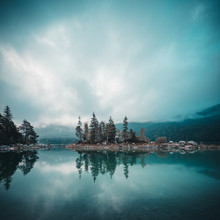 Franz Sussbauer, Lake Eibsee at blue hour (Germany, Europe)