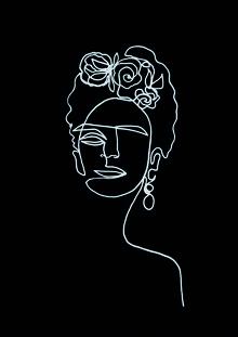 Frida Kahlo BW - fotokunst von Julia Hariri