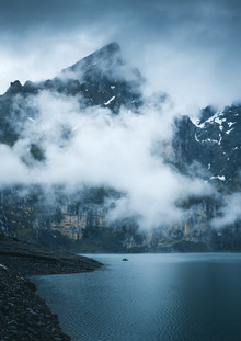 Der einsame Fischer - fotokunst von Niels Oberson