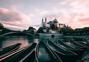 Niels Oberson, Aarburg Castle in the Morning (Switzerland, Europe)