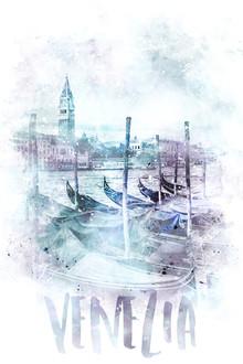 Melanie Viola, Moderne Kunst CANAL GRANDE | Aquarell (Italien, Europa)