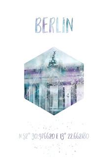 Melanie Viola, Koordinaten BERLIN Brandenburger Tor | Aquarell (Deutschland, Europa)