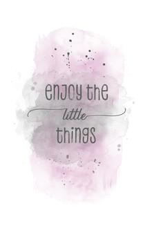 Melanie Viola, Enjoy the little things | Aquarell rosa (Deutschland, Europa)