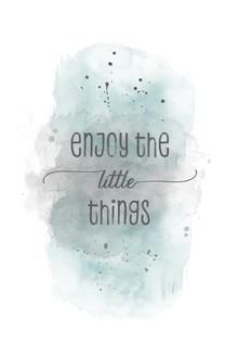 Melanie Viola, Enjoy the little things | Aquarell türkis (Deutschland, Europa)