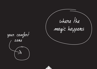 The Quote, Comfort zone. Where the magic happens. (Deutschland, Europa)