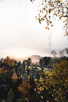 Lukas Litt, Sonnenaufgang bei der Bastei (Deutschland, Europa)