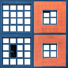 Stephan Rückert, Quadrate blau und orange (, )