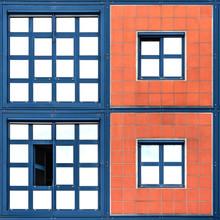Stephan Rückert, Quadrate blau und orange (, )