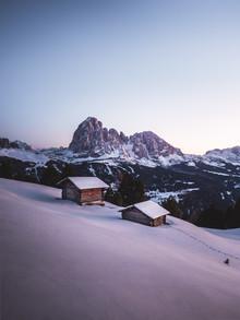 Roman Huber, Sonnenuntergang in Gröden (Italien, Europa)