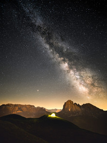 Roman Huber, Milky way in Val Gardena (Italy, Europe)