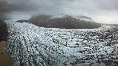 Roman Huber, Gletscherzung in Island (Island, Europa)